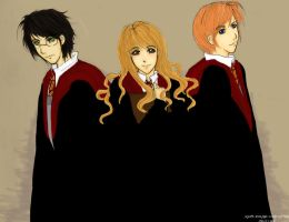 The Golden Trio by a-pikachu