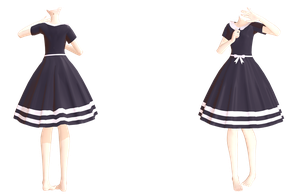 MMD TDA Simple dress (Thanks for 150+) (DL) by kiraAnima