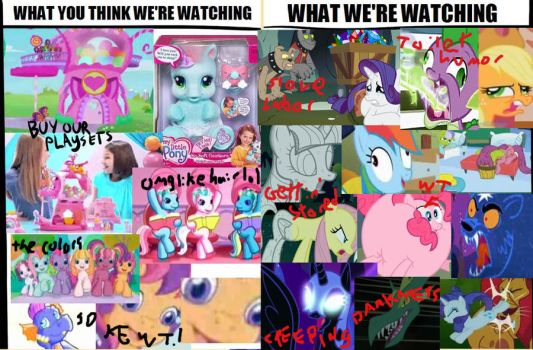 What you watchin', brony? by mousesquisher
