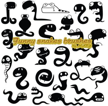 Funny snakes brushes by MARY1976