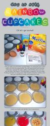 How to: Rainbow Cupcakes by Marki-san-Design