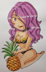 Camilla and Angry Pineapple by NekoMoni