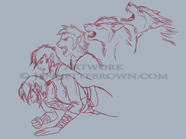 Link's Transformation - WIP by sugarpoultry