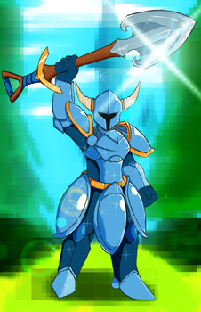 FanArt: Shovel Knight by LoneWolfoftheNorth