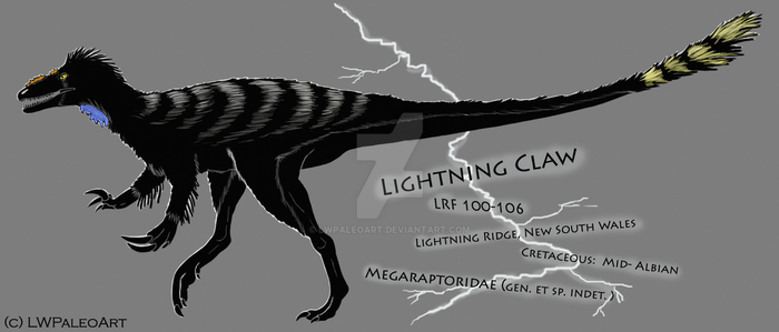 Stylized Lightning Claw by LWPaleoArt