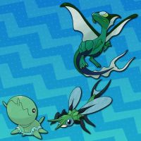 Shiny Flygon line (Special Request) by j7663701