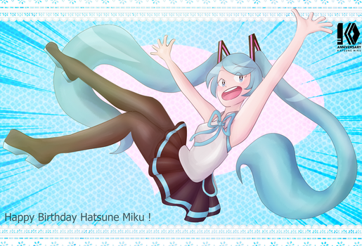 .: Miku 10th Birthday :. by Duekko