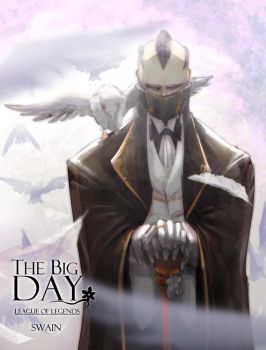 LOL_The big Day - Swain by beanbeancurd
