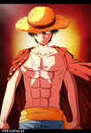 one piece luffy by execution97