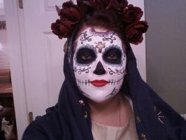 Santa Muerta with costume on by Hairwego13