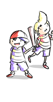 Ness and Lucas by fluffyfishy