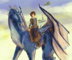 Eragon and Saphira by Fabio-mikk