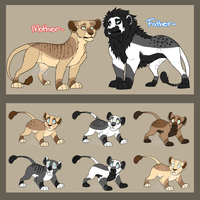 Lion Family Adopt [CHEAP][CLOSED] by MoonstarAdoptables