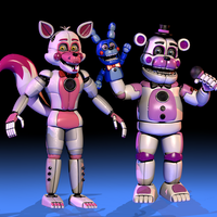 Funtime Foxy and Funtime Freddy . [FNaF SL] by ChuizaProductions