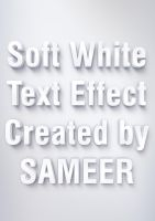 Soft White Text Effect by syedsameer07860