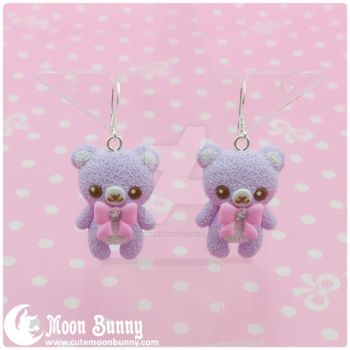 Pastel ice cream bears Earrings 3 by CuteMoonbunny