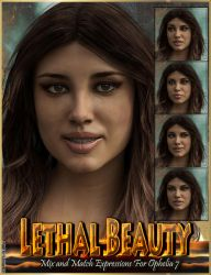 Lethal Beauty Mix'n'Match Expressions for Ophelia7 by emmaalvarez