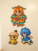 Moemon #7-9 Dragonite, Psyduck and Golduck by MagicPearls