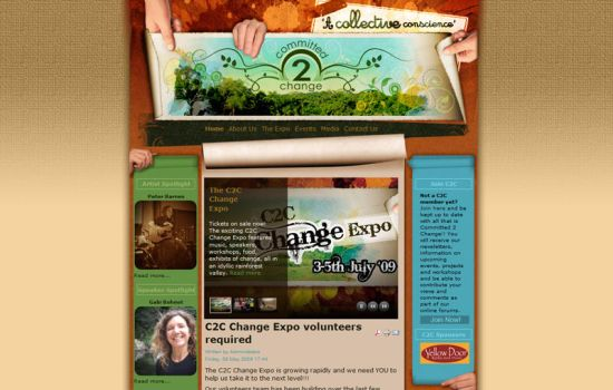 Website for Committed 2 Change by grapple-media