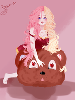 Rose and her bear by Rozunne