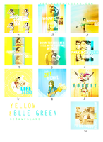 Yellow and Blue Green by Yoolylee