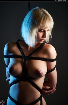 Shibari in Red 6 by AliceXModel