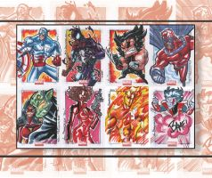 Marvel Universe Sketch Cards by theFranchize