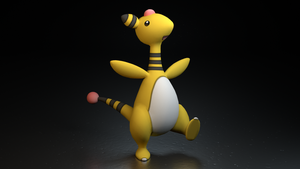 #181. Ampharos by TheAdorableOshawott