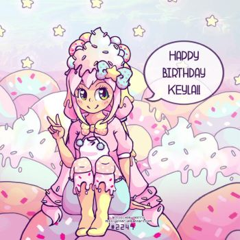 Happy Birthday Keyla by Miss-Glitter