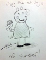 Peppa Pig enjoying ice cream by Lady-RyuuXX87