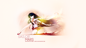 Wallpaper Sailor Moon - Sailor Mars by Genki-18