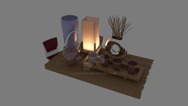 Texturing and Rendering Assignment - Tea Table 1 by Chris000