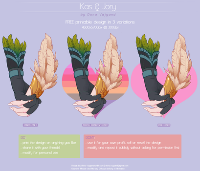 Kasmeer and Marjory - FREE Printable Download by DonaVajgand