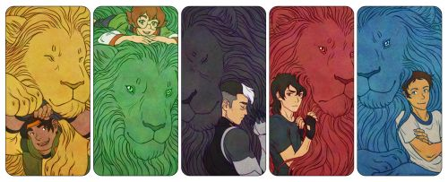 Voltron Paladins and their Lions by kayshasiemens