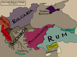 Byzantium after Fourth Crusade by mordredderby