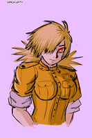 Seras Victoria (with colors) by Spacewaifu