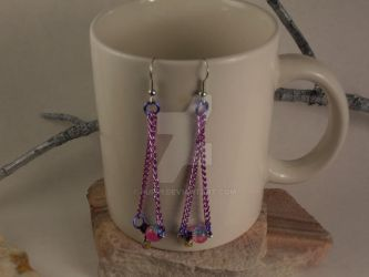 Handmade Drop Earrings by purp1