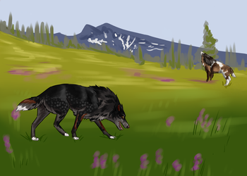 Von CE spring meadow by animeartist62