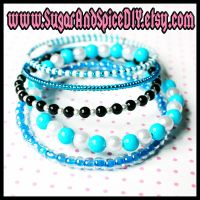 Cookie Monster Colors Bangles by wickedland