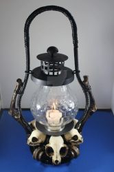 Cat Skulls Lantern (SOLD) by seancfinnigan