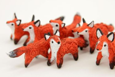 Foxes! by hontor