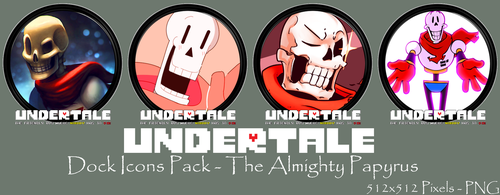 Undertale Dock Icons Pack - The Almighty Papyrus by courage-and-feith