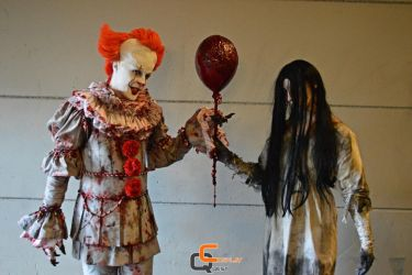 Pennywise and Samara Cosplay by CosplayQuest