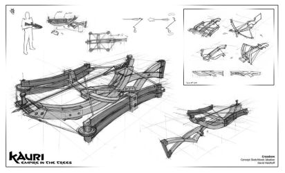 Wooden Crossbow Design by Davver