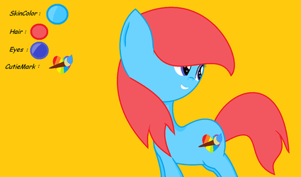 New OC #45  name : HeartPaint by jolybasees