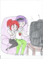 Watching TV together by XSreiki772