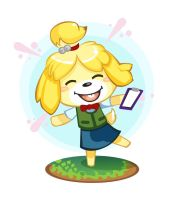 Isabelle from Animal Crossing by skyehopper