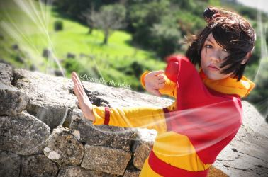 Jinora - Dance like the Wind by hiyoko-chan