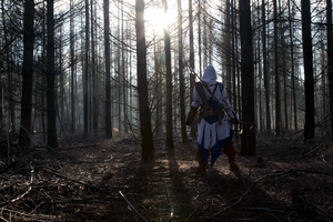 AC3 through the trees by SquallWolfheart