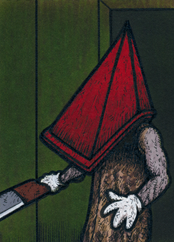Pyramid Head - water damage by Yamallow